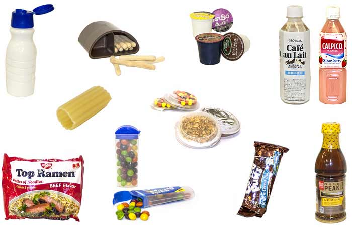 A group of food products.
