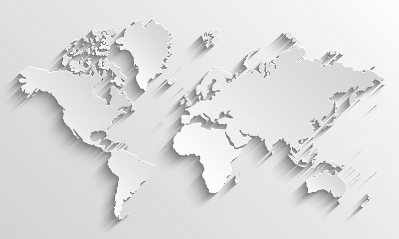 A graphical representative of the world map.