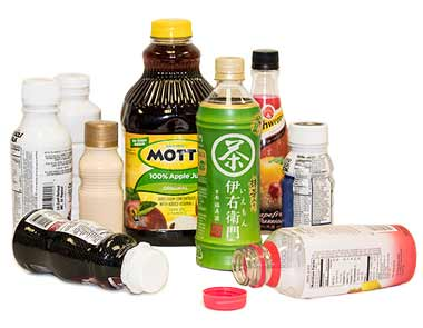 A small collection of bottled products.