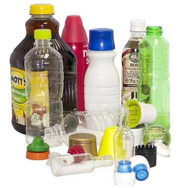 A collection of plastics products.