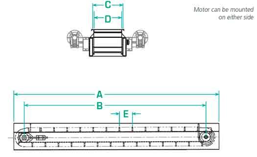 Dimensions of EC Bulk Conveyor