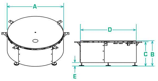 FD-30 rotary accumulation table specifications