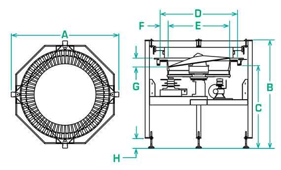 Dimensions of FS-20 Scallop Feeder