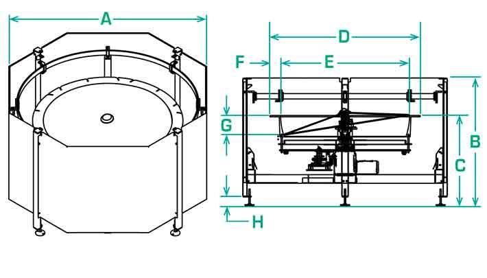 FS-60-RD Scallop Dimensions