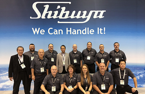 A group photo of the Shibuya team.