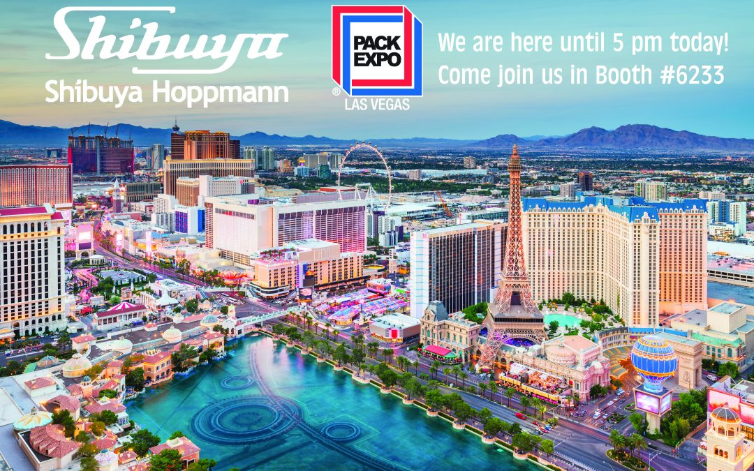 Pack Expo Las Vegas Announcement for Day 1 Shibuya Hoppmann Booth #6233